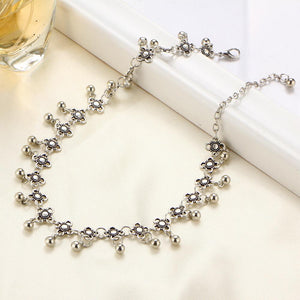 Retro exaggerated crystal alloy plate moon multi-tiered chest clavicle necklace necklace