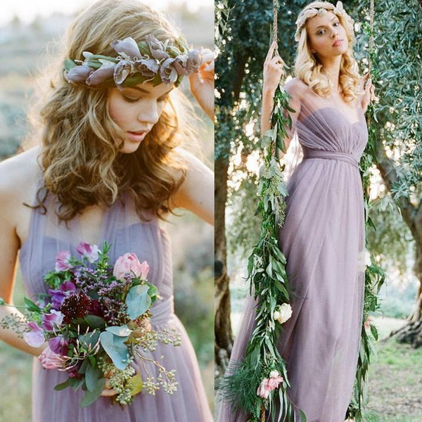 Elegant Sleeveless Wedding Maxi Dress