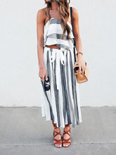 Load image into Gallery viewer, Stripe Bohemia Tops And Pants Suits