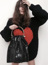 Load image into Gallery viewer, Fashion Knitting Loose Sweet heart Sweater Tops