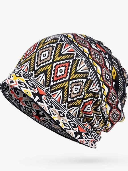 Four Seasons Cotton Fashion Geometric Pattern Adult Fashion Bib Hat