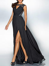 Load image into Gallery viewer, Fashion Black Sleeveles Maxi Dress Evening Dress