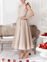 Load image into Gallery viewer, Falbala Sleeves A-Line Evening Dress