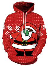 Load image into Gallery viewer, Santa Claus pattern street fashion digital printing couple loose sweater