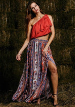 Load image into Gallery viewer, Womens Gypsy Boho Beach Tribal Floral Skirt