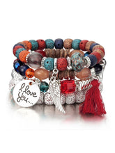 Load image into Gallery viewer, Natural Stone Bead Bangles Set
