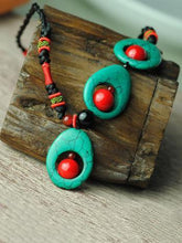 Load image into Gallery viewer, Vintage Handmade Turquoise Clavicle Necklaces Accessories