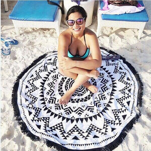 Hot Sale tassel beach towel sun shawl Variety scarf yoga cushion Mat
