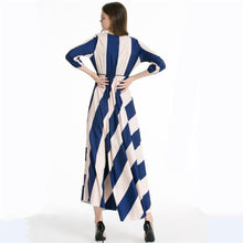 Load image into Gallery viewer, Casual Stripes Big Swing Beach Maxi Dress