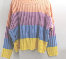 Load image into Gallery viewer, Cute Oversized Knitted Macaron Colors Winter Pullover Sweater