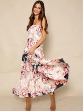 Load image into Gallery viewer, Sexy Strapless Backless Floral Print Boho Beach Maxi Dress