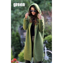Load image into Gallery viewer, Casual Long Sleeves Knitted Hooded Cardigan Overcoat