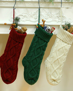 46CM Knitting Wool Home Wall Decoration Candy Bag Socks Set Diamond Gift Bag Socks Hanging Christmas Socks Set