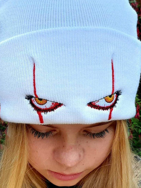 Pennywise scary eyes  hat warm cover hip hop Hat Wool Hat