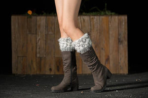 Boot cuff thick short-sleeved thick thick bamboo knit wool yarn socks - 3