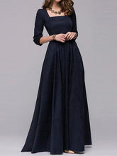 Load image into Gallery viewer, Long paragraph Hepburn Style dress big size dress evening dress Russian dress