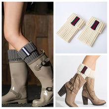 Load image into Gallery viewer, Boot cuff thick short-sleeved thick thick bamboo knit wool yarn socks - 2