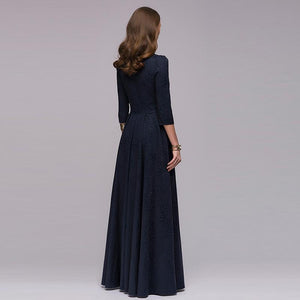 Long paragraph Hepburn Style dress big size dress evening dress Russian dress