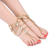 Load image into Gallery viewer, Rhinestone foot alloy accessories diamond jewelry personalized anklet