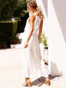 Summer Halter Sleeveless Long Pants Jumpsuit Romper