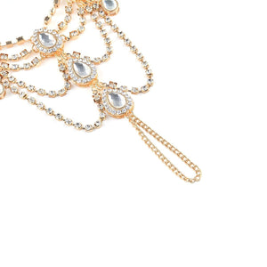Rhinestone foot alloy accessories diamond jewelry personalized anklet