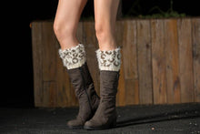 Load image into Gallery viewer, Boot cuff thick short-sleeved thick thick bamboo knit wool yarn socks - 3