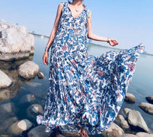 Load image into Gallery viewer, Gypsy Style Bohemian Chic Hippie V-Neck Sleeveless Beach Dress