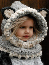 Load image into Gallery viewer, Knitted Fox Featured Warmer Hat