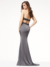Load image into Gallery viewer, Halter Neck Backless Floor Evening Dress