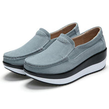 Load image into Gallery viewer, Large Size Rocker Sole Suede Slip On Casual Shoes