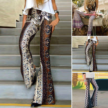 Load image into Gallery viewer, Floral Boho Hippie Casual Loose Wide Leg Flared Pants