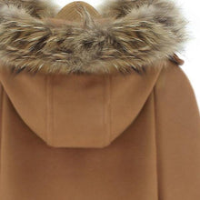 Load image into Gallery viewer, Warm Solid Color Batwing Sleeve Fur Hooded Cape