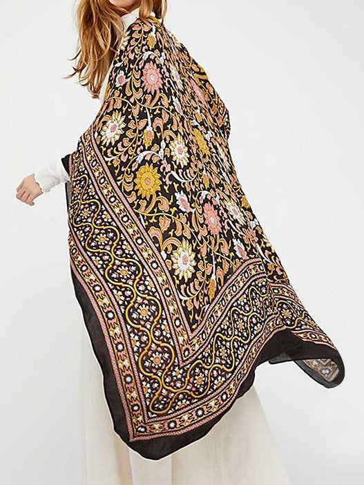 Long Beach Summer Women Floral Shawl Cardigan