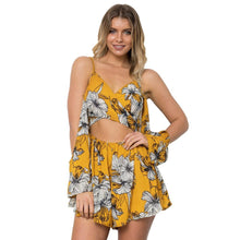 Load image into Gallery viewer, Sexy Printed Spaghetti Strap High Waist Chiffon Rompers