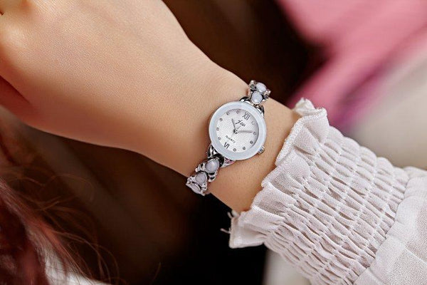 New Korean Women Fashion Casual Steel Band Quartz Watch