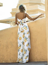 Load image into Gallery viewer, Spaghetti-neck Printed Maxi Dress