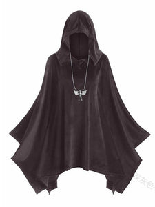 Solid Color Hooded Halloween Costume Props Cape