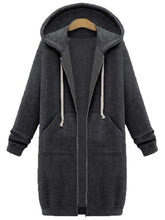Load image into Gallery viewer, Casual Women Long Sleeve Zipper Hooded Pocket Coats
