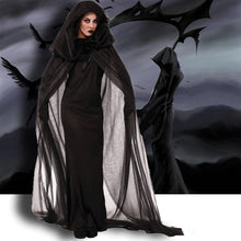 Load image into Gallery viewer, Halloween Black Witch Cosplay Dress