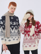 Load image into Gallery viewer, Loose Casual Couple Sweater Pullover Long Sleeve Korean Christmas Cartoon Sweater