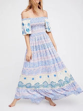 Load image into Gallery viewer, 2018 New Printed Off Shoulder Beach Boho Maxi Long Dress