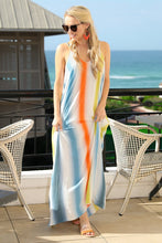 Load image into Gallery viewer, Spaghetti-Strap Sexy Backless Stripe Beach Long Dress