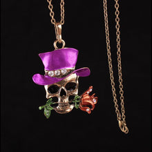 Load image into Gallery viewer, Halloween Taro Rose Necklace Accessories
