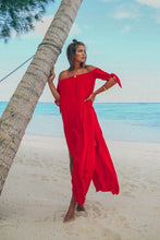 Load image into Gallery viewer, Sexy Off-The-Shoulder Solid Color Irregular Split Beach Dress