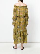 Load image into Gallery viewer, Boho Off Shoulder Long Sleeve Beach Maxi Dress
