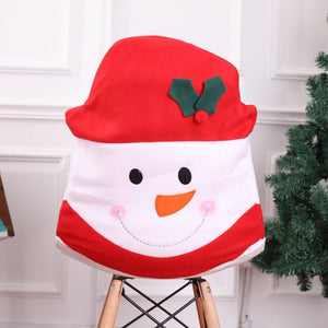 Holiday Snowman Dining Chair Slipcovers Christmas Decorations