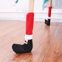 Load image into Gallery viewer, 4Pcs Christmas Table Leg Covers Chair Socks Santa Feet Shoes