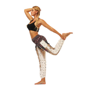 National Style Nepal dot seaside loose wide-legged casual pants fitness exercise yoga lantern pants women 1