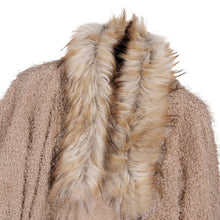 Load image into Gallery viewer, Open Front Faux Fur Collar Cardigan Coat