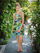 Load image into Gallery viewer, Bohemia Floral-Print Strapes Off-Back Sleeveless Loose Mini Beach Dress